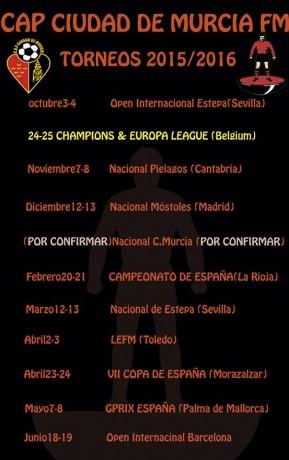 Calendario Temporada 2015-2016